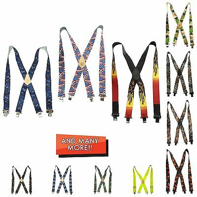 "Usa Made Custom Suspenders • 2"" Wide • Strong Metal Clips • Buy American"