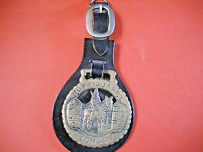 Vintage  Horse Brass On Leather Horse, Tack,