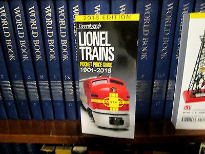 2018 Lionel Price Guide....latest Edition.... Gotta Have One....mint!....w85