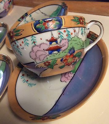 Vintage Hand Painted in Japan One Tea Cup And Saucer