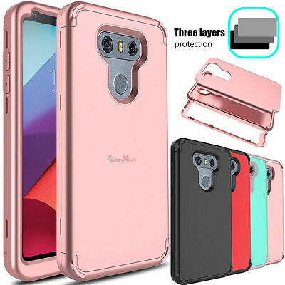 For LG G6 Plus Phone Case Slim Hybrid Shockproof TPU Rubber Hard Armor Cover