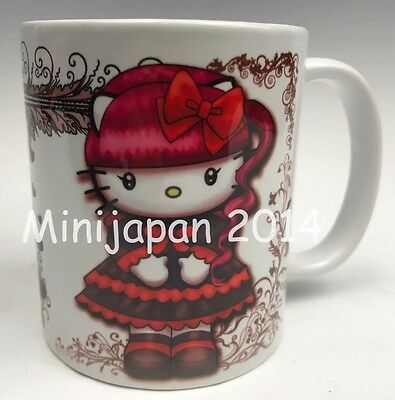 Hello Kitty Lolita gothic ceramic cup 11 oz mug Original Design US Seller