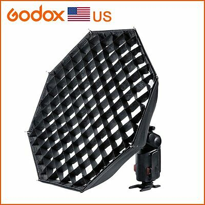 "Godox AD-S7 Grid Octagonal Softbox 18"" Folding for Wistro AD180 AD360 Speedlite"