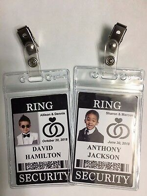 Ring Security Badge - With Clip & Plastic Holder For Ring Bearer, Wedding
