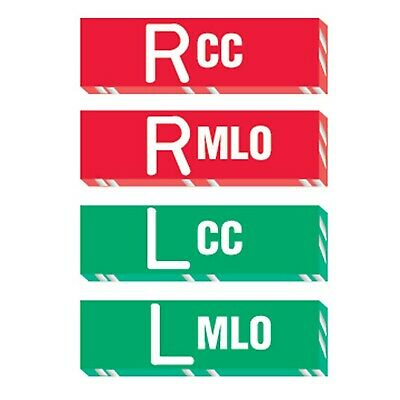 "PDC Healthcare MRK-292 X-Ray Marker - Abbreviated, ""R and L - CC/MLO"", Polycarbo"
