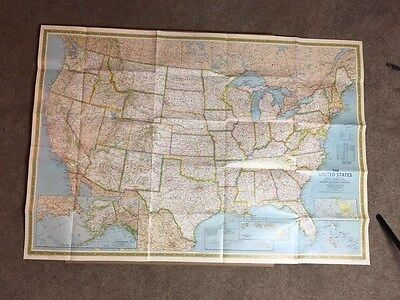 Large 1988 National Geographic United States Map Excellent Condition