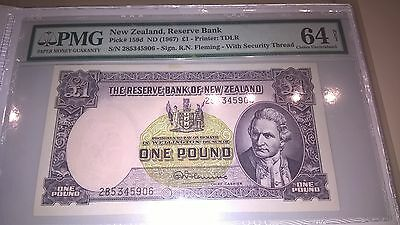 Pmg 64 Graded £1 Pound Note