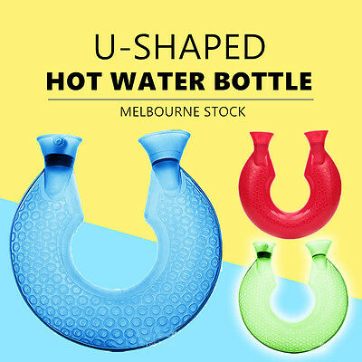 U shaped Hot Water Bottle Warmer Heat Soft Rubber Bag Classic Large