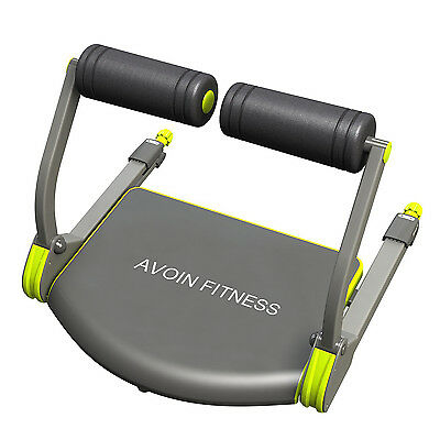 AVOIN FITNESS Equipment, Black/Green Smart and Twister Board Home Workout System