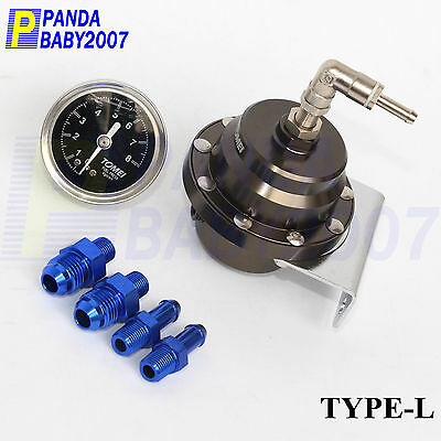 Adjustable Regulator Meter Fuel Pressure Gauge Kit Fitting 8kg/CM² TOMEI Type-L