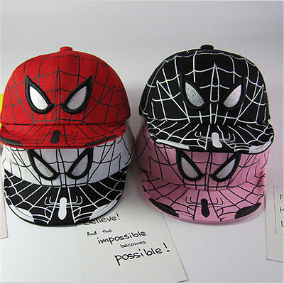 Kids Boys Toddlers Spiderman Minion Sports Baseball Cap Hat Costume Accessory