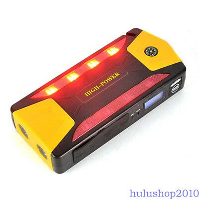 82800mAh Car Jump Starter Booster Charger Power Bank Emergency Battery 4USB