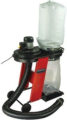 Vertical Bag Dust Collector System Cleaning Filter Portable Wheels Red