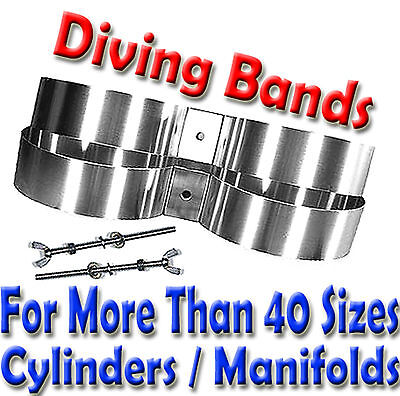 Stainless Steel Scuba Diving Twin Cylinder Tank Band VARIOUS SIZE