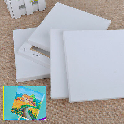 5pc 15x15cm Stretched Artists Blank Canvas Small Art Board Acrylic Oil Paint DIY