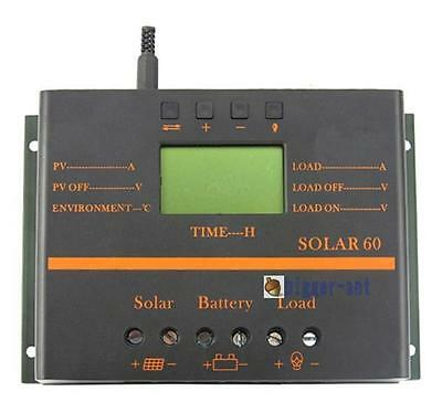 50A LCD PV Solar Regulator Charge Discharge Controller 12V 24V With USB Timer BS