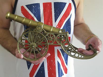 Large size Vintage solid Brass Cannon