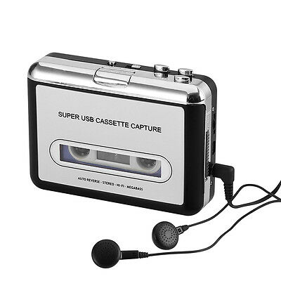 Cassette Tape-to-MP3 Converter - Plug and Play, Win + Mac Compatible