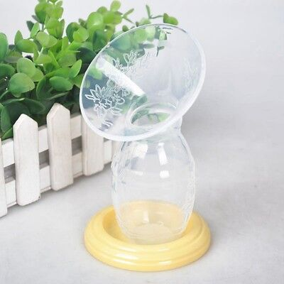 Manual Breast Pumps Milk Saver Feeding Silicone Breastfeeding Bottle Portable AU