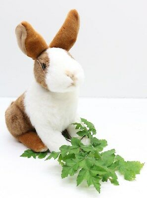 NEW Very Soft And Cuddly Cute Black & White Rabbit Plush Toy - Free Delivery
