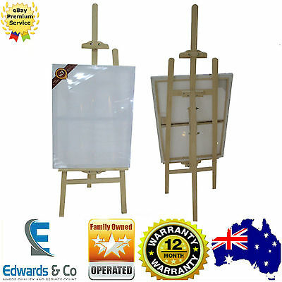 145cm Pine Wood Easel Artist Art Display Painting Shop Tripod Stand Adjustable