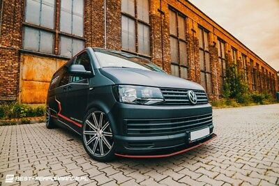 Cup Spoilerlippe Front Ansatz Diffusor Carbon Look ABS VW T6 BUS version 1 + ABE