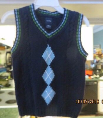 Baby Gap  Infant  Boys V-Neck Navy Sweater Size 12-18 Months