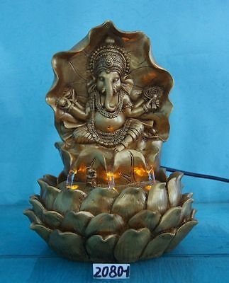 Ganesha Indoor Polyresin  Water Fountain With Lighting System -Easy Installation