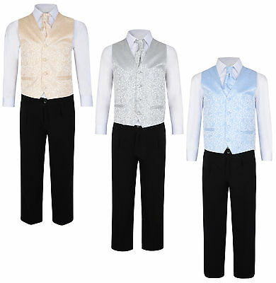 Boys 4 Piece Suits Wedding Page Boy Prom Party Formal Suits 3M - 8Y Bnwt