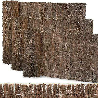Brushwood Fencing Privacy Screening Fence Garden Wind Screen Willow Reed Thatch