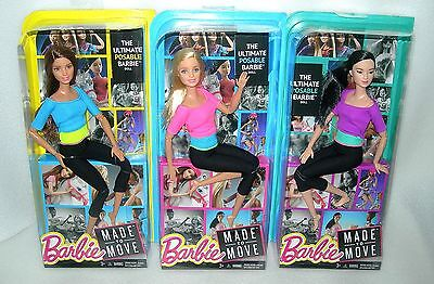 Barbie Made To Move Doll - The Ultimate Posable Barbie with 22 Joints - BNIP
