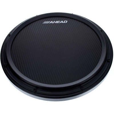 Ahead AHSHPB 14 Inch Black S-Hoop Marching Practise Pad with Snare Sound (New)