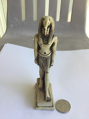 UNIQUE VINTAGE THE GOD THOTH (Ibis Bird) CARVED STATUE HANDMADE IN EGYPT !!! WOW