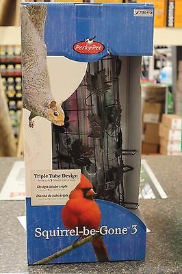 New 337 Perky-Pet Squirrel-Be-Gone Wild Bird Metal Tube Seed Feeder  New