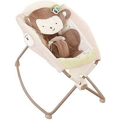 Fisher Price My Little Snugamonkey Special Edition Deluxe Newborn Rock 'n Pla...