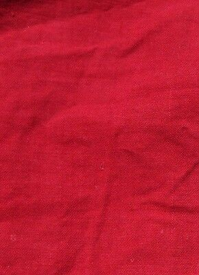 Antique Rare French Turkey Red Cotton Fabric c1870-1880~Quilters, Dolls