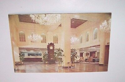 Vintage Postcard - Lobby of the Monteleone Hotel - French Qtr. - LA