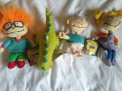 Vintage Set of 4 Nickelodean Rugrat Dolls with tags still attached