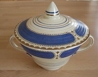 Booths Ribstone Ware 1930's Lidded Sugar Bowl in good condition