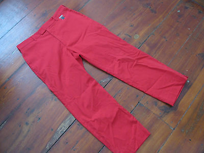 iliac golf pants golfing Solid Red size mens 34/31 Scarce Lamar