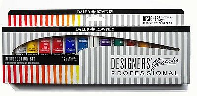 Daler Rowney Designers Gouache Professional Introductory Set 12 x 15ml Tubes