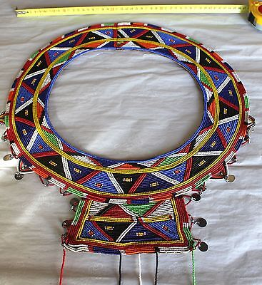 Old African Bead Necklace Beaded Tribal Wedding Jewelry Africa Tribe Ceremonial