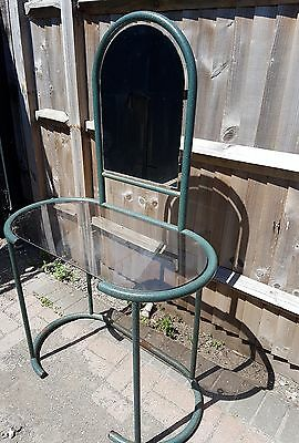 A Vintage Green Iron Dressing Table/Display