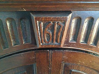 1617 Antique Corner Cabinet King James 1st or 2nd From Haughton Towers, Preston.