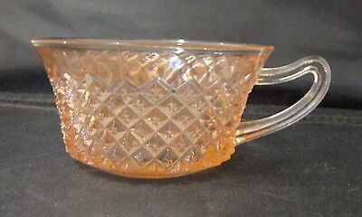 Anchor Hocking Cup Miss America Pink Depression Glass Diamond Cut 1935 to 1938