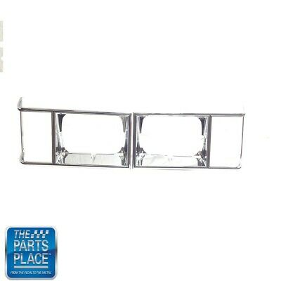 1978-79 Monte Carlo Headlamp Chrome Bezel New- GM 463533 & 463534 Pair