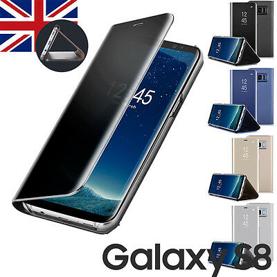Shockproof Cover Samsung Galaxy S8/S8+ Leather Flip Stand Case Screen Protector