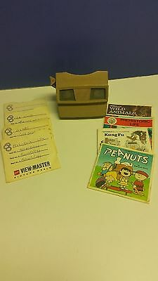 View-Master & Picture Wheels: Peanuts KUNG FU Prehistoric Life WILD ANIMALS of..