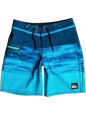 Quiksilver Estate Blue Hold Down - 16 Inch Kids Boardshorts
