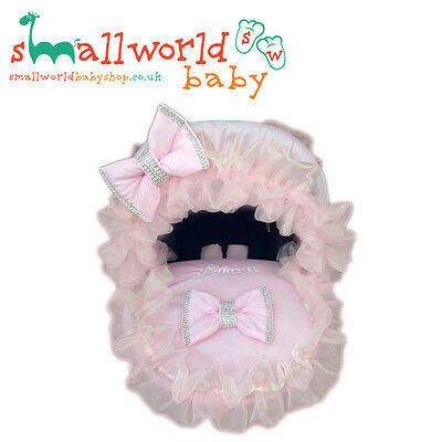 Personalised Pink Bling Baby Car Seat Cover (NEXT DAY DISPATCH)